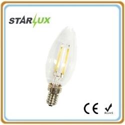 Светодиодный индикатор лампой накаливания C35 лампа в форме свечи 2 Вт E14 3000K/4100K/6500K