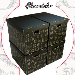 Profondeur de couleur marron de l'impression CMJN boîte en carton<br/> Coffre à jouets en carton ondulé