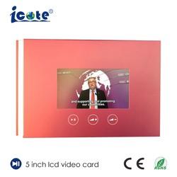 5.0 pouces LCD carte vidéo utilisée pour la société de publicité avec 480*720 px Résolution d'affichage