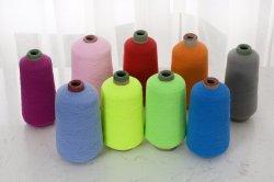 Haut de fil de polyester élastique Dope teints copie de fil de polyester de fils de nylon pour SOCKS et élastiques