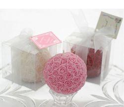 Nouveau design Rose romantique Ball comme cadeau avec Parfum de bougie