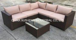 Jardín modernos muebles de ratán sofá de mimbre de resina