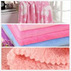 100 % polyester Tissu Minky Coral Fleece Blanket