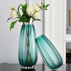 Hoher Menge-handgemachter bunter Tisch-Glasvase für Ausgangs-und Garten-Dekoration