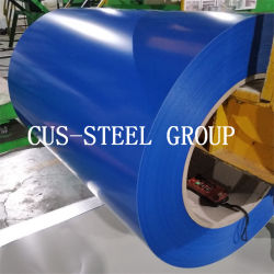 0.4*1200mm Plastikfilm PPGI Belüftung-Ral9003 strich Stahlring vor