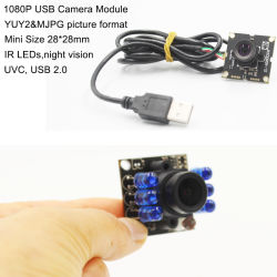 China Wholesale HD 30fps 28*28mm UVC Linux Andriod Micro Mini 1080P de la cámara USB de infrarrojos para el módulo de Video Portero