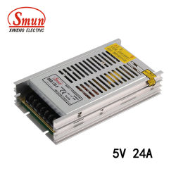 Smun 120W 5V 24A ULTRA-FIN Alimentation à commutation de sortie simple
