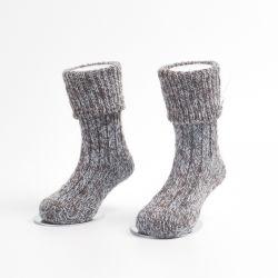 Sin costura a mano toalla de felpa tejer calcetines