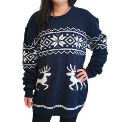 2020 Jumpers de Natal com o floco de neve e Deers Branco suéter