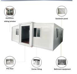 Australian Customized Modular Expandable Container 2 Schlafzimmer Prefab Home