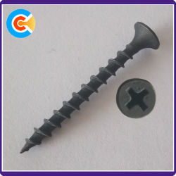 Black Carbon Steel M4 Pozi Drive Chipboard Screws