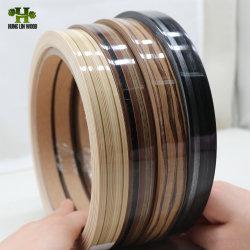 Cor sólida/PVC Woodgrain guarnição de borda a borda de PVC/Lipping/Faixas Tampa para móveis