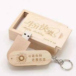 Qualitäts-Falz-Torsion hölzernes USB-Feder-Laufwerk 3.0 1 Konzert 4 GBs grelles Laufwerk 8GB 16GB 32GB Schwenker USB-2.0