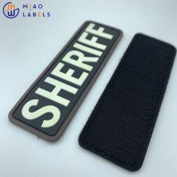 Vestuário de borracha de PVC da marca de logotipo Patch de Silicone logótipo em relevo Custom