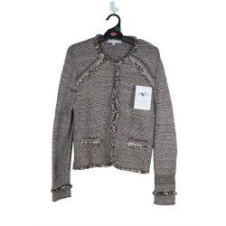 Mejor Venta de cuello redondo con textura de lana suéter sueltos Cashmere Sweater