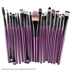 Colorete en polvo herramienta pincel de maquillaje 20pcs conjunto de cepillos de maquillaje