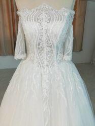 На плечо One-Straight свадебные платья с кружевом и валики (18301#)
