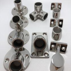 قاعدة ستانسيون من الفولاذ المقاوم للصدأ بزاوية 60 درجة (7/8 بوصة أو بوصة واحدة)