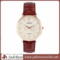 숙녀 고전적인 석영 아날로그 시계 새로운 형식 가죽끈 시계