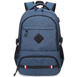 Las nuevas tendencias de los hombres inteligentes de la bolsa de ordenador de viaje Mochila Mochila Portátil con puerto de auriculares y carga USB Soft mochila