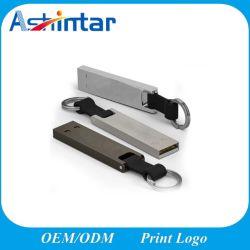 Логотип деловых обедов печать 4ГБ 8 ГБ памяти USB Memory Stick Металлические мини USB Flash накопитель с цепочки ключей