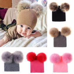 Warme de Winter van de baby breit het Jonge geitje van de Peuter van de Zuigeling van de Hoed haakt Hairball Beanie GLB