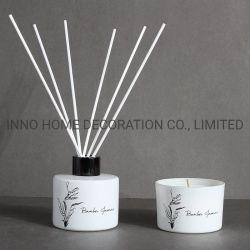 Raincoast Luxury Design Rigid Box Glass Bottle Scented Reed Diffuser 향기 캔들 선물 세트