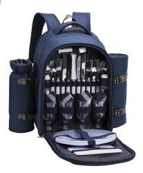 600D de alta calidad Ployster mochila de picnic con vino y titular de la Manta