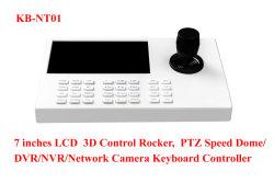 3D NVR Controlador das válvulas de câmaras IP PTZ da Câmara Dome de teclado