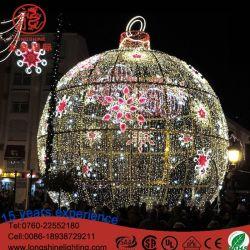 Giant orbiculaire motif 3D de lumière LED LED énorme boule de Noël Décoration extérieure