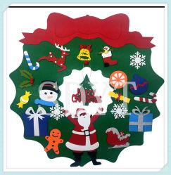 子供のための2020 DIYの装飾の壁掛けのフェルトのクリスマスツリーの装飾