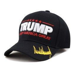 Tira de velcro ajustable bordado al por mayor nueva moda Trump Oreja Hat