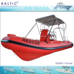 Tiefe V Marinerippen-aufblasbares Boot Qingdao 520 des Seesport-