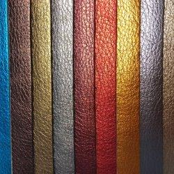 Pattern Litchi métalliques finis PU pour des chaussures en cuir synthétique/sacs de décisions