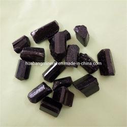 Venda por grosso Preto Natural Quartzo Turmalina Cristal polido pedra de pulsos de cura