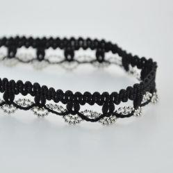 Paño de moda accesorios de lujo de la cadena de bolas de fresado con accesorios de prendas de vestir
