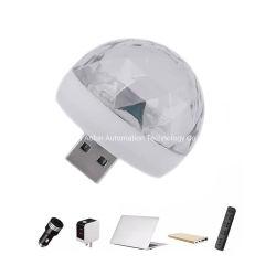 De kleine Magische Disco Licht DJ van de Lamp USB van de Prijs van de Laser LED+Stage+Lights van DJ van de Akoestische Sensor van de Bal RGB Mini