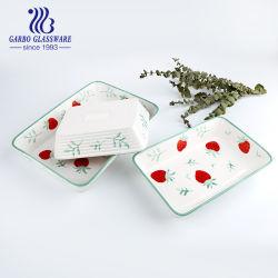 piatto di pranzo stampato Handmade della porcellana 3PCS Tz3-Tc23002A-Th1 stabilito