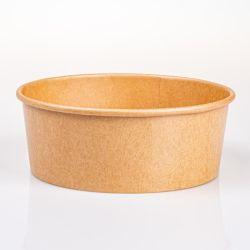 500 ml の卸売食品グレードクラフトフードは使い捨てになります サラダのカスタムスープの紙ボウルは食糧のために