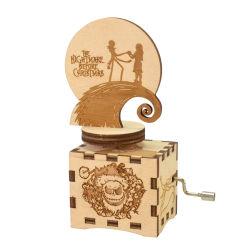 Confezione di musica in legno da regalo con Figurine rotanti