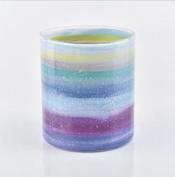 Домашняя оформление посудой подарок Freehand Sketching стеклянный кувшин блендера держатель в форме свечи в форме свечи