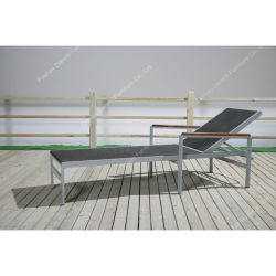Salotto esterno di alluminio del Chaise del rattan dell'hotel della mobilia di svago moderno per il Poolside