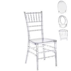 La moderna Venta caliente claro de plástico apilables boda en Tiffany de resina acrílica transparente claro silla Chiavari