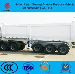 탄소 강철 U 모양 3 차축 6 팁 주는 사람 트레일러 8 바퀴 모래 돌 수송 쓰레기꾼 트레일러 반 45cbm에 의하여 사용되는 트레일러 트럭