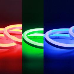 屋外の防水装飾的なカラー変更の照明またはLED RGBのネオンサインのためのRGB LEDのネオン屈曲10X20mm