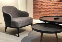Современной мебелью для отдыха ткань + обложки из кожи кресло диван в гостиной