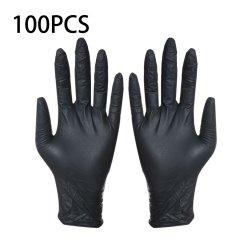 Черный одноразовые нитриловые перчатки Wear-Resistant прочного нитриловые резиновый латекс продовольственной перчатки бытовые моющие перчатки оставаться дома