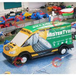 Juego al aire libre depósito inflable modelo de coche