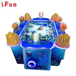 Billete de 6 jugadores comercial fuera ir de pesca Mini juego de Arcade de la máquina con 55'' pulgadas LCD Video Simulador de pescado para niños