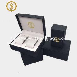 2021 Nouvelle conception de haute qualité en cuir de couleur noire pu regarder la boîte d'emballage